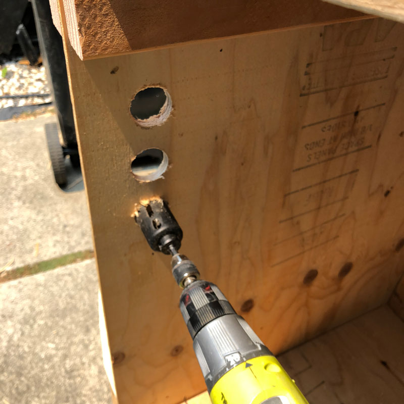 Drilling Holes For Air Flow